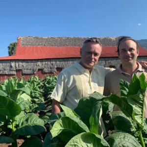 Jeremy Casdagli and Hendrik Kelner Jr at Jicome tobacco fields