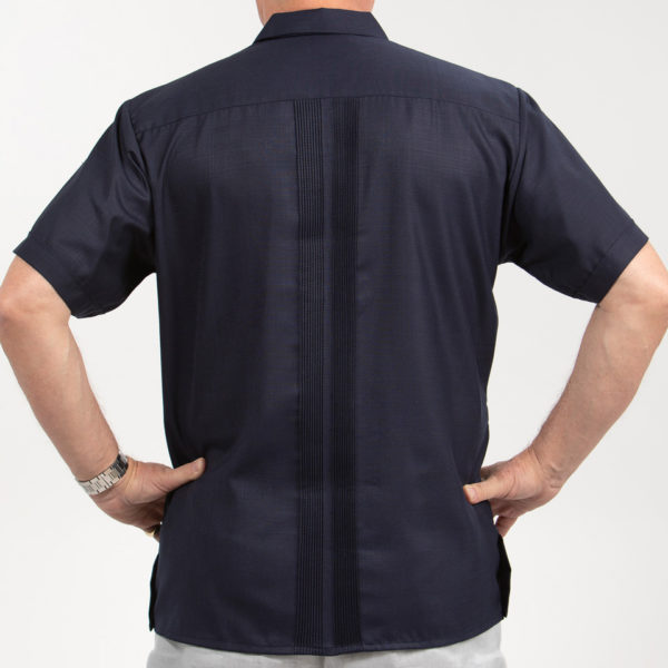 Villa Casdagli dark blue guayabera shirt