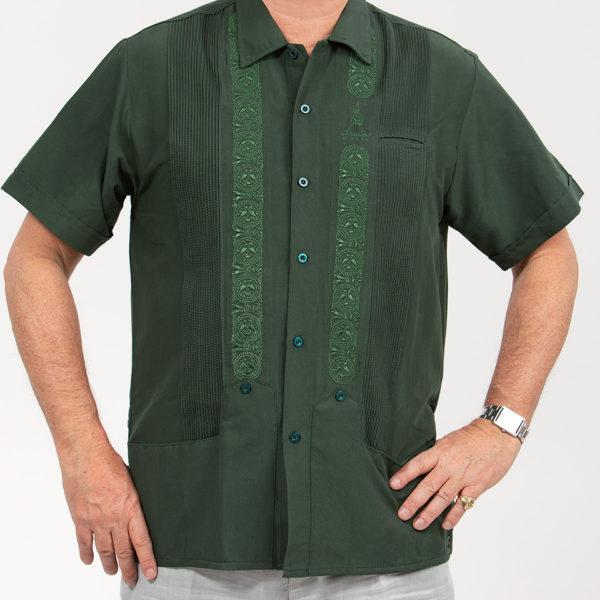 Villa Casdagli green guayabera shirt