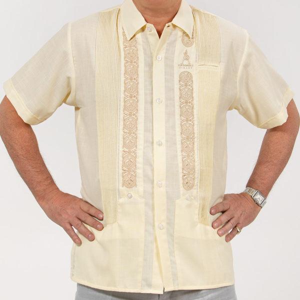 Villa Casdagli ivory guayabera shirt