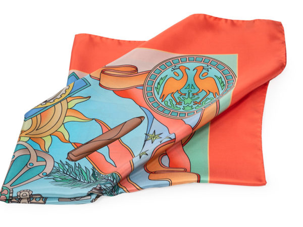 House of Glory silk scarf_orange