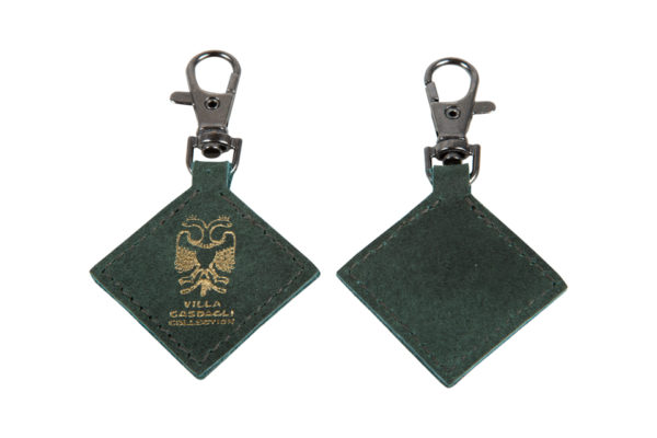 Villa Casdagli Collection leather keyholder_green