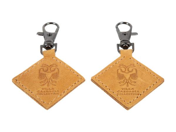 Villa Casdagli Collection leather keyholder_natural