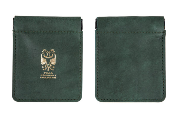 Villa Casdagli Collection leather pouch wallet_green_2