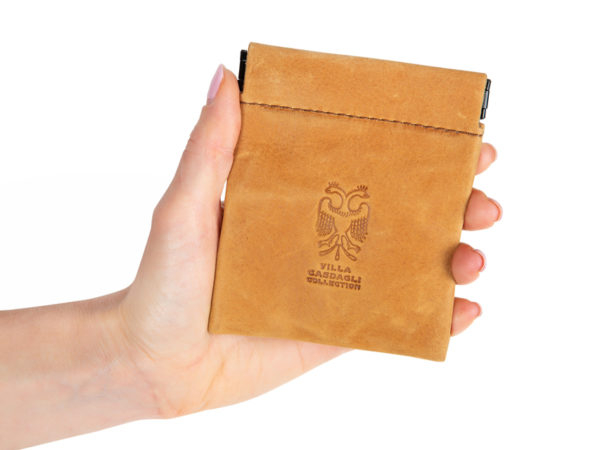 Villa Casdagli Collection leather pouch wallet_natural